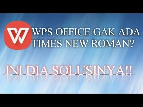 Cara Menambahkan Font Di WPS Office