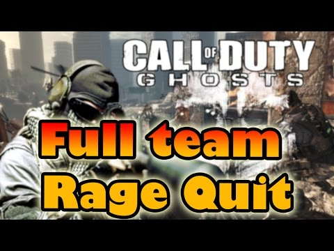 Ghosts | Full Team Rage Quit camper mode ON