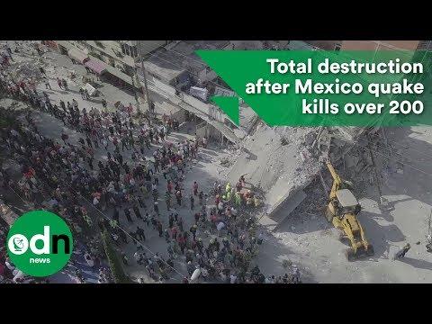 Total destruction after Mexico quake kills over 200