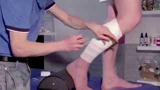 Déchirure du triceps : strapping thérapeutique (montage en contre pression)