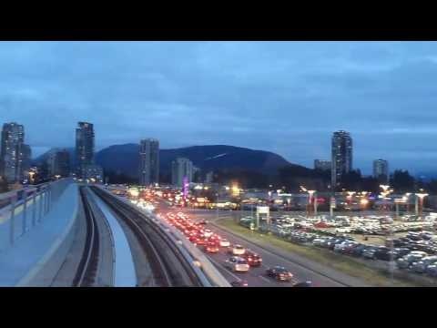 NEW skytrain Vancouver to Coquitlam bc Canada