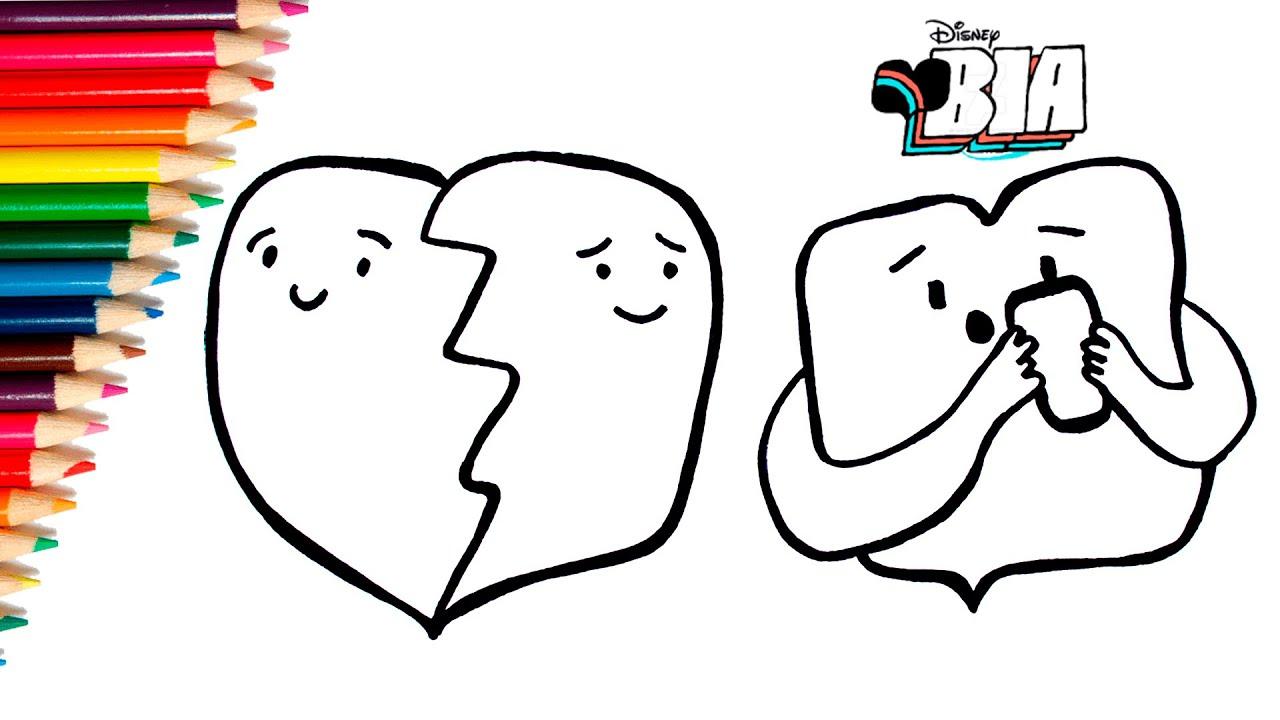 Biadisney Como Dibujar Y Colorear Los Stickers De Bia Para
