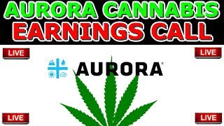 Watching Aurora Cannabis Q2 Earnings Call LIVE With Investing Hustler 📍ACB Stock market 2019
