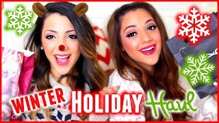 HUGE WINTER  HOLIDAY HAUL 2015 | Niki and Gabi