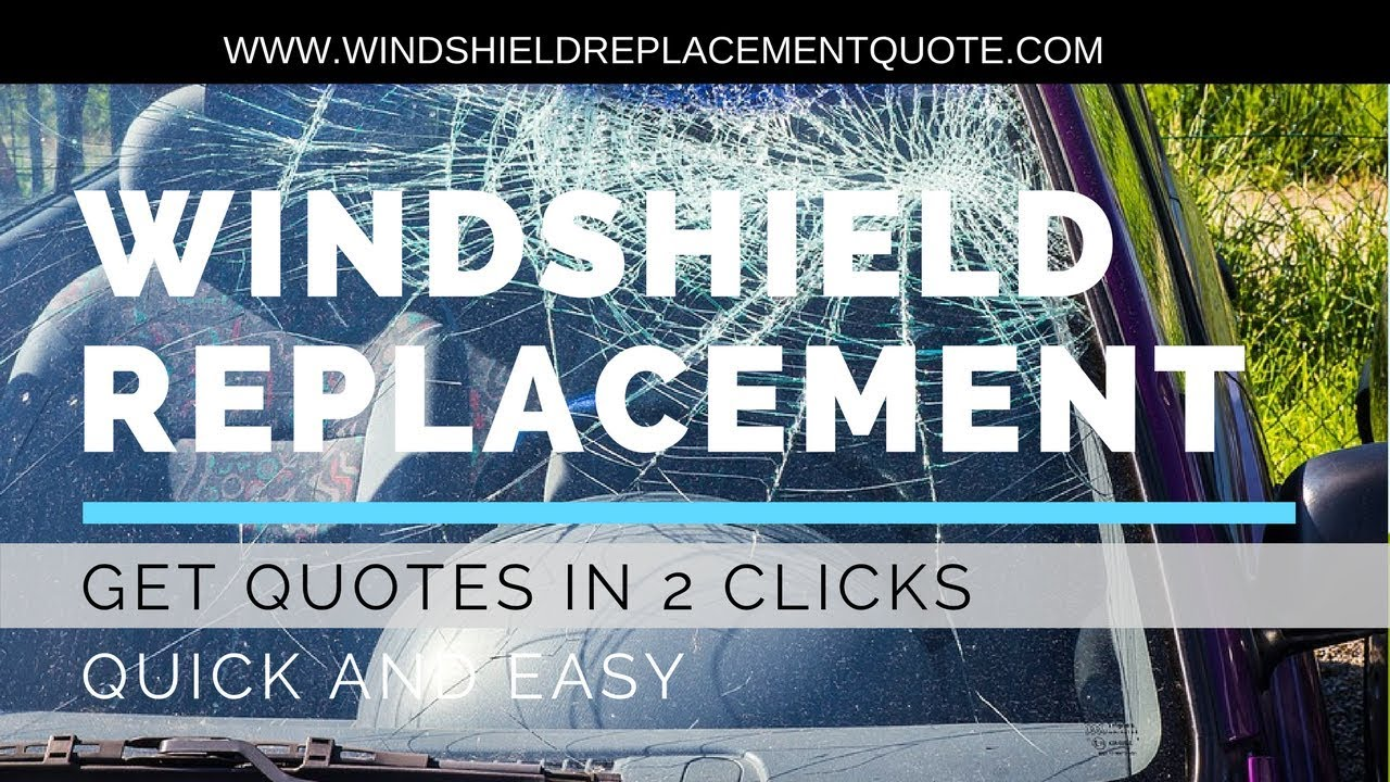 Windshield Repair Quote Fair Windshield Replacement Quote  Youtube