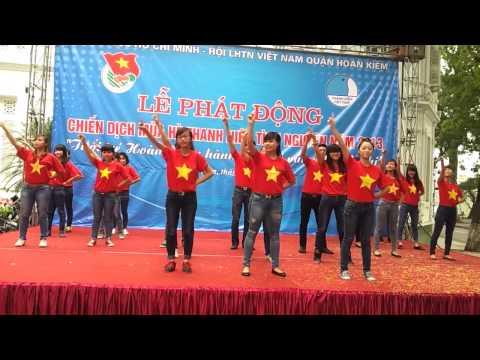 [TN Hoàn Kiếm] Dân vũ Trống cơm - ra quân Mùa hè xanh