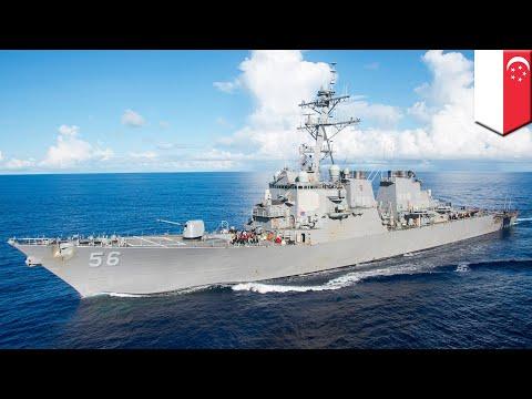 Missing sailors: USS John McCain collides with oil tanker near Singapore, 10 missing - TomoNews