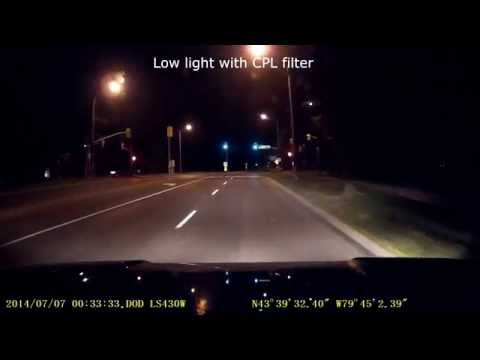 Dash Cam Dashcam Extreme Glare Solution Dash Camera With CPL Filter Low Light Sample