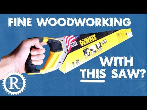 Fine woodworking with a hardware store saw.