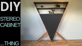 DIY Triangle Stereo Cabinet...thing.  (Rockler Plywood Challenge entry)