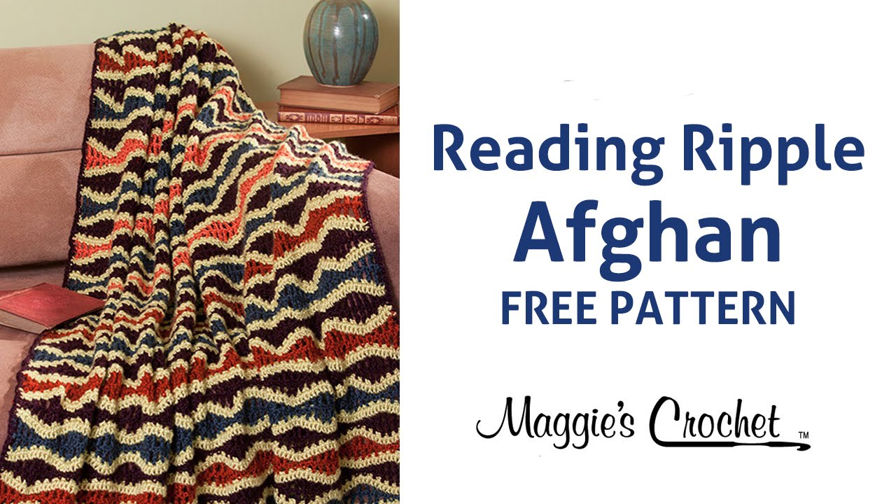 Reading ripple afghan free crochet pattern right handed youtube dt1010fo