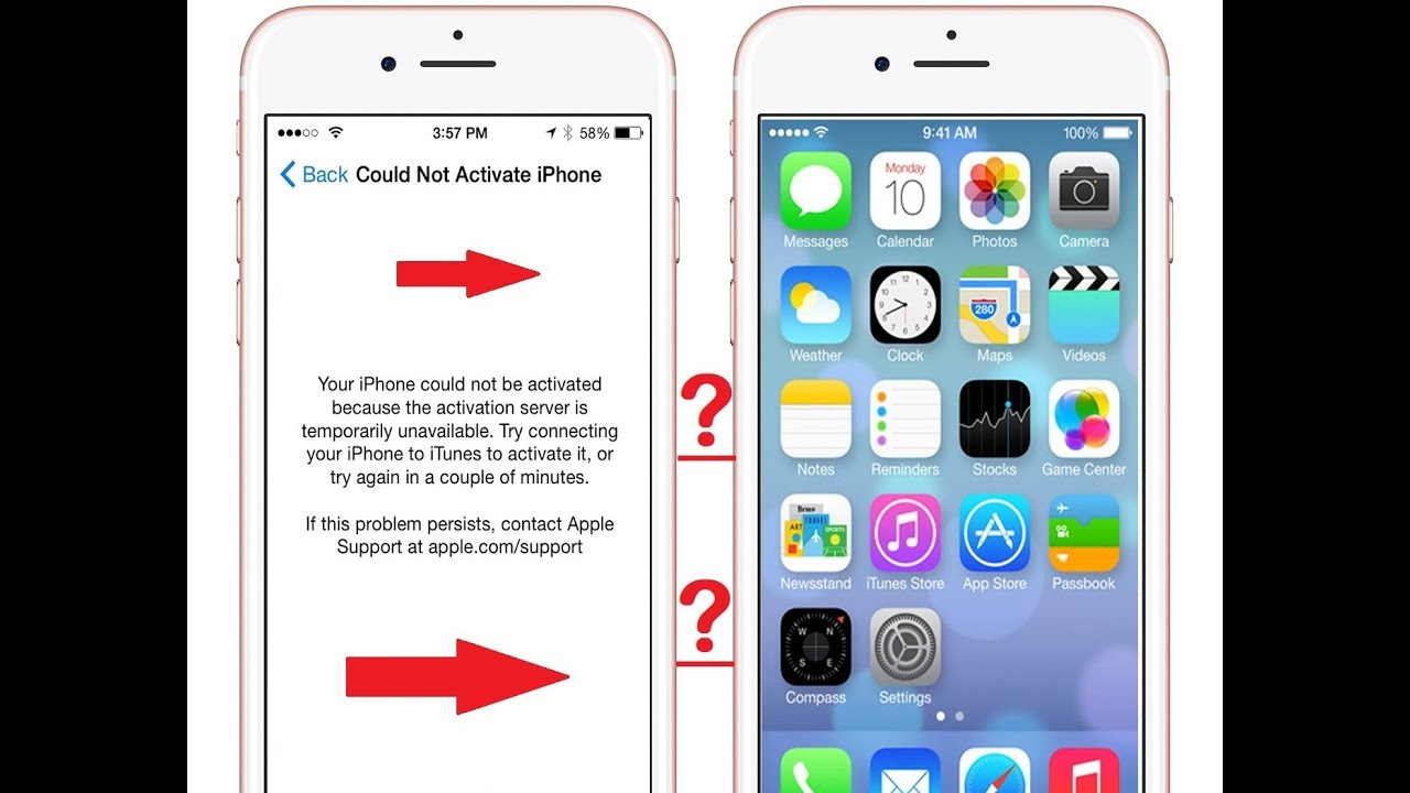 iphone 5s activation server cannot be reached gsmhosting