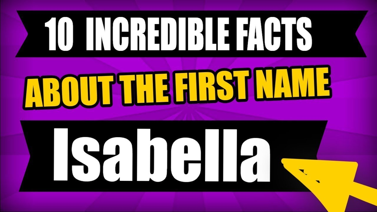 Meaning of the name Isabella - Interesting Facts about the ...