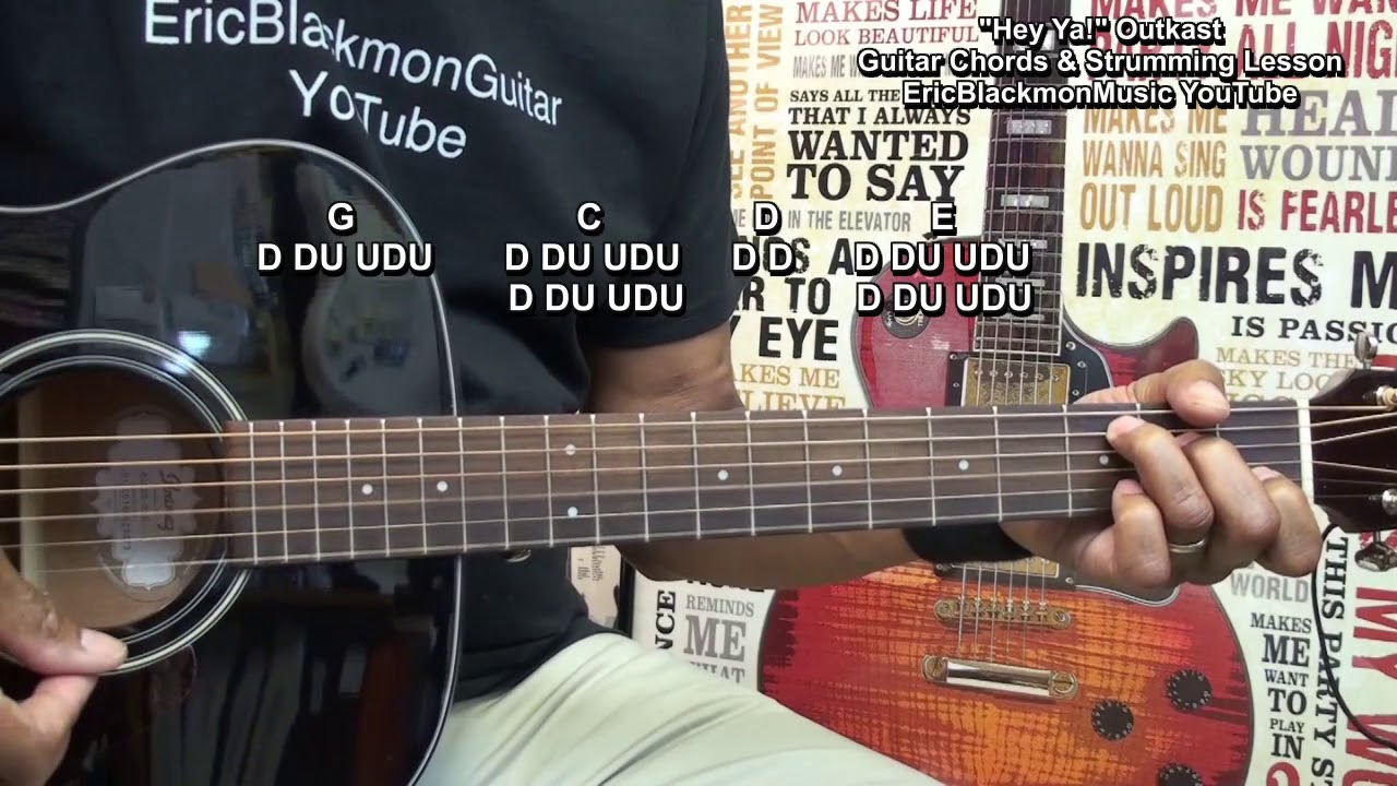 How To Play Hey Ya Outkast Acoustic Guitar Strumming Lesson