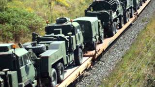 CN 2235, CN 8803 - Ultra Rare  Canadian Military Train - Westbound - Lovekin, ON.
