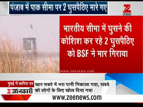 Watch: BSF guns down two Pakistani infiltrators in Ajnala sector | बीएसएफ ने 2 घुसपैठिए मार गिराए