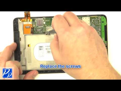 Dell Venue 7 (3730) Android 4 2 Tablet Motherboard & Touchscreen Assembly  Replacement Video Tutorial