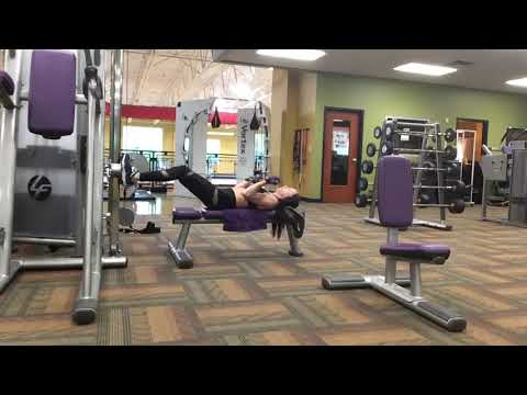 Supine (lying down) cable biceps curls