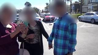 Esposa enfrenta el esposo con su amante.