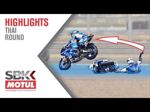 Perolari flies OVER Badovini's fallen bike!