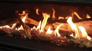C44 Burn Video: Driftwood Log Set W Rocks