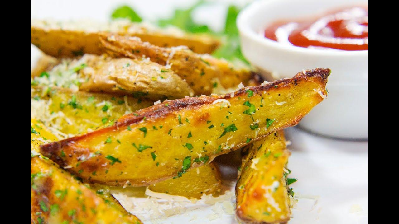 картофель в духовке дольками с чесноком