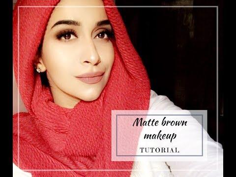 Matte Brown Makeup Tutorial | Fizzah Rajput