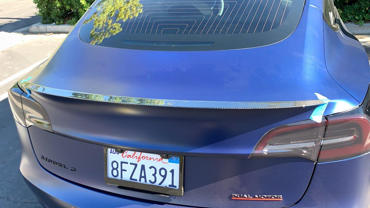 TESLA Model 3 Performance Spoiler - YouTube