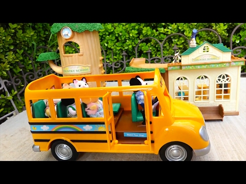 Family Fun Stories for Kids With Calico Critters Toys - At School, Going Camping, Bad Baby & More