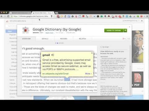 Google Dictionary - Chrome Extension