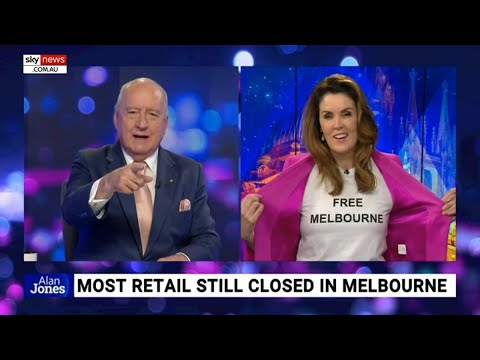 Peta Credlin dons 'Free Melbourne' shirt in protest of 'harder than Wuhan' lockdowns