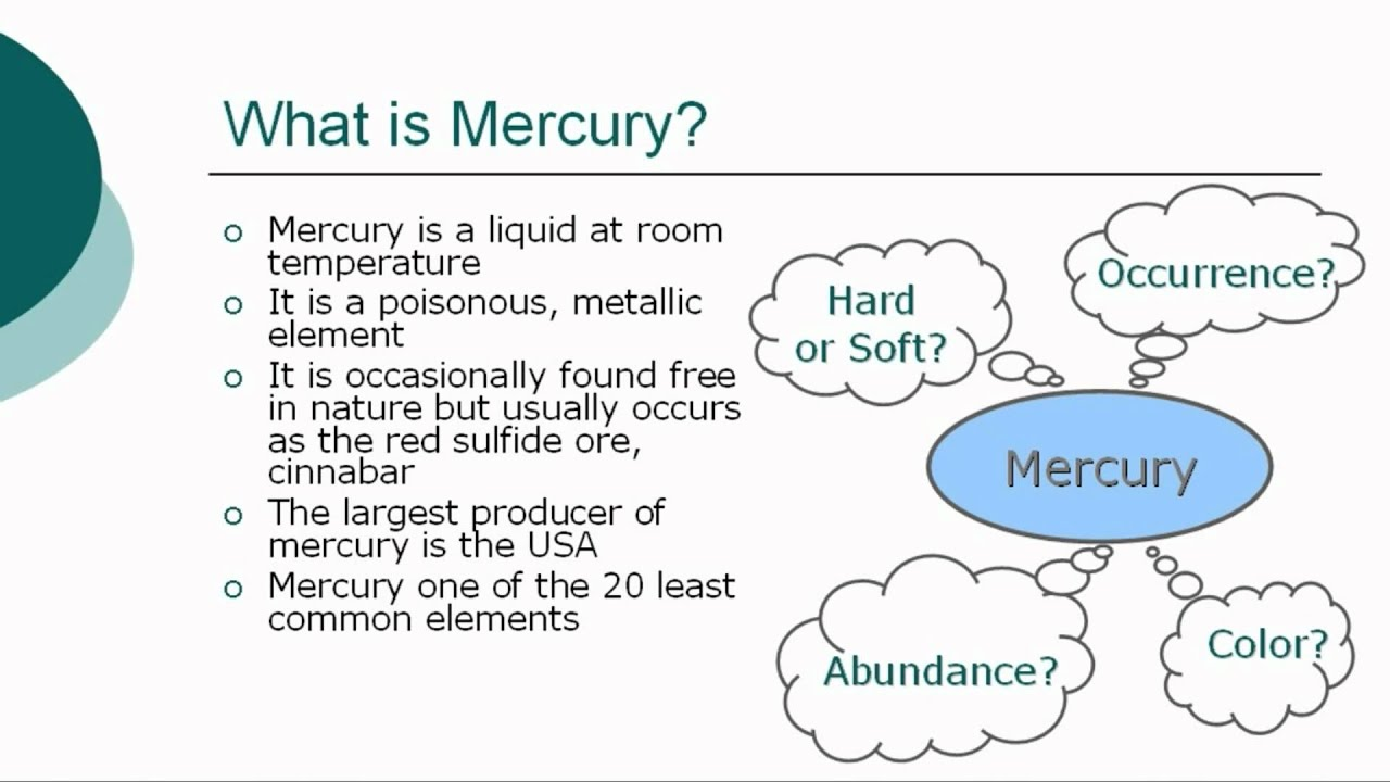 a study on the element of mercury The element was named after the roman god mercury, known for speed  the  isotopes 199hg and 201hg are often studied by the technique.