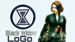How to Draw Black widow logo in Tribal Tattoo style