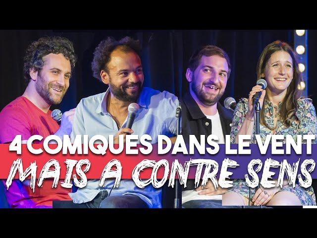 EP 12 - Fabrice Eboué, Benjamin Tranié, Rosa Bursztein, Seb Mellia - 4 Comiques dans le vent...