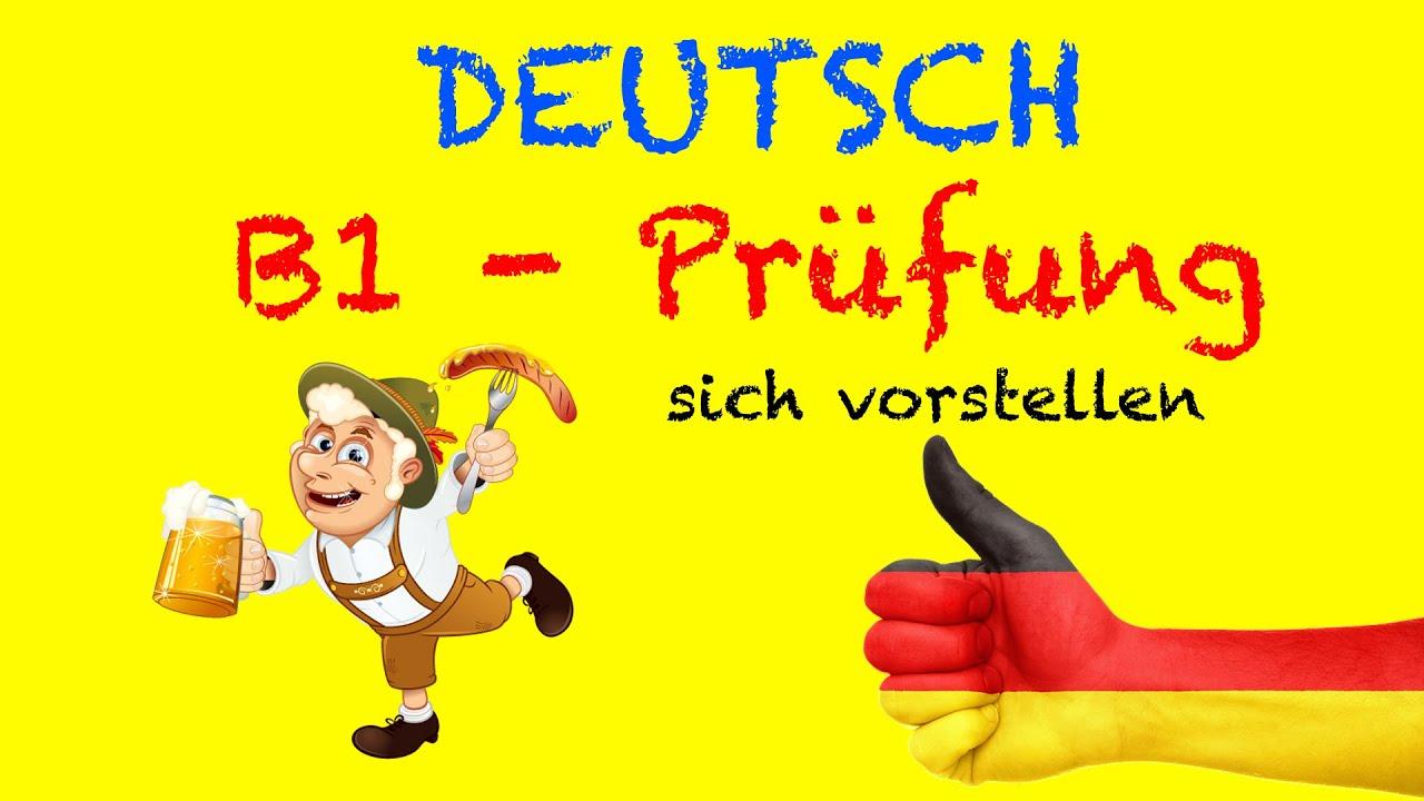 deutsch b1 b2 m252ndliche pr252fung sich vorstellen