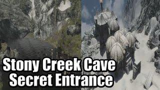 Skyrim: Stony Creek Cave Serect Entrance