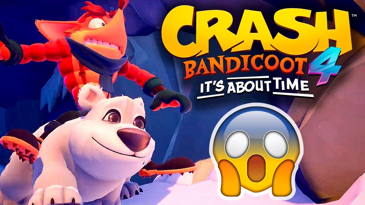 O POLAR ESTÁ DE VOLTA EM CRASH BANDICOOT 4: IT'S ABOUT TIME 😱 | React e Análise do Trailer