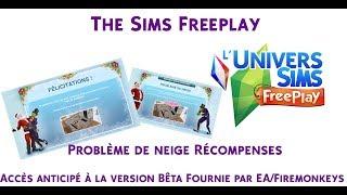 The Sims Freeplay - Noël 2017 - Récompenses - Problème de neige - Accès Anticipé