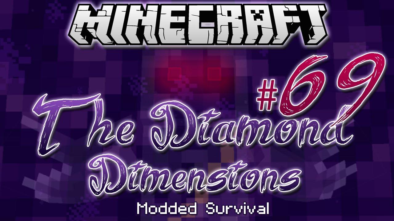 """MOON VILLAGE""   Diamond Dimensions Modded Survival #69   Minecraft"