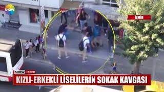 Kızlı-Erkekli liselilerin sokak kavgası