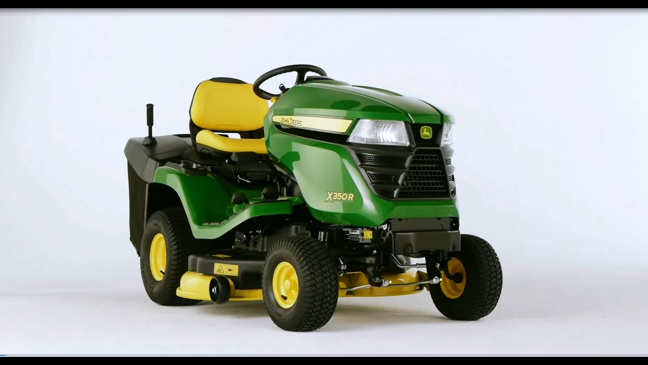 john deere x 350 r youtube. Black Bedroom Furniture Sets. Home Design Ideas