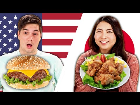 American & Japanese People Swap School Lunches