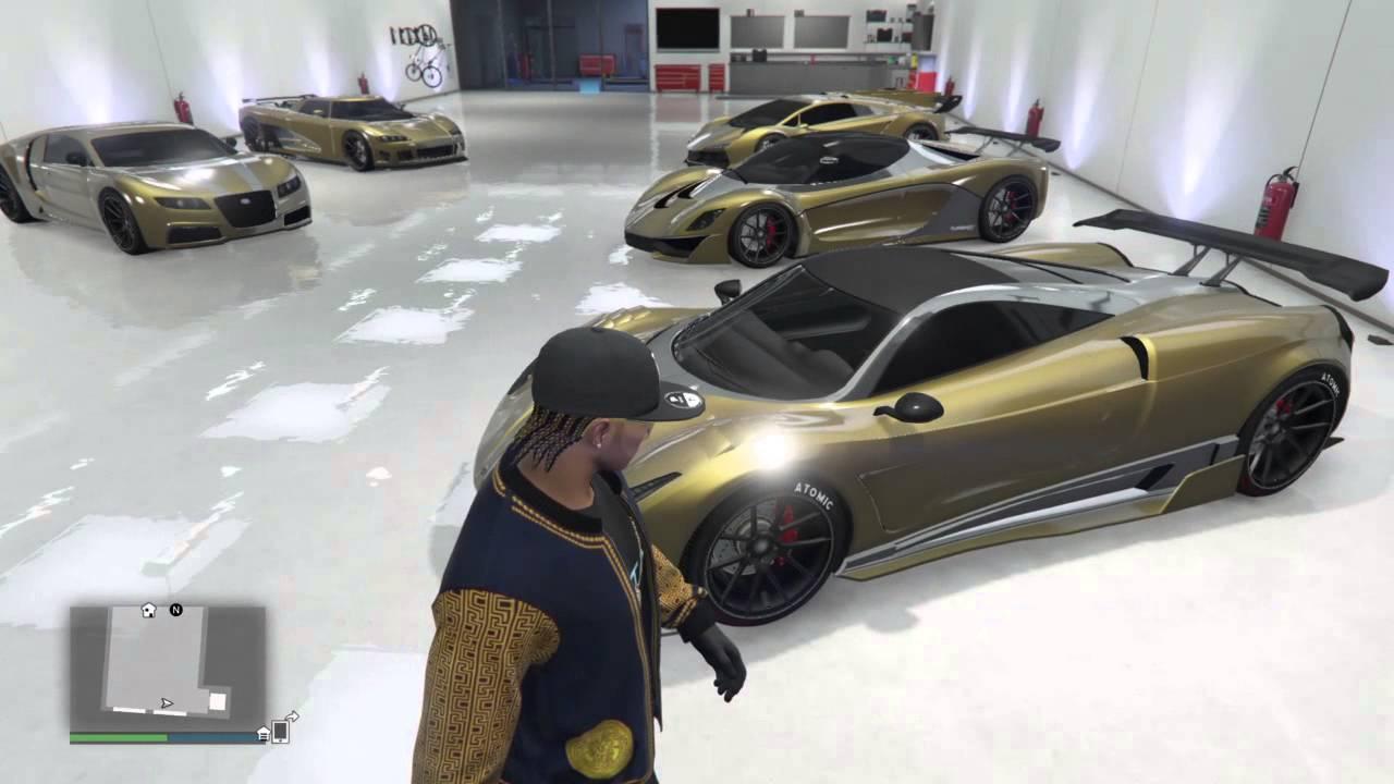 Gta Super Car Garage Tour Youtube