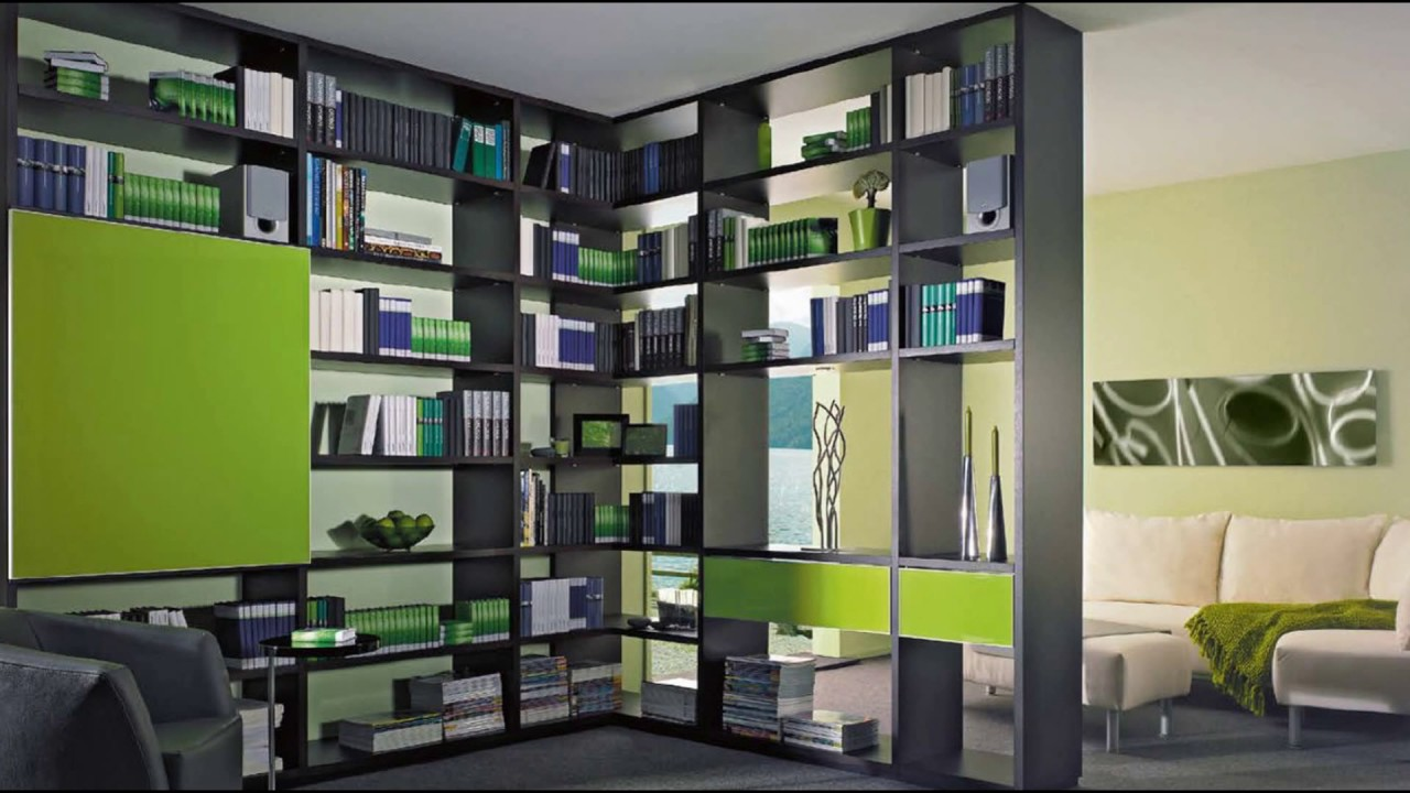 Bookcase Room Dividers - Bookcase Room Dividers - YouTube