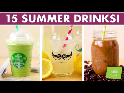 healthy-summer-drinks-stop-motion-compilation---15-refreshing-drinks!
