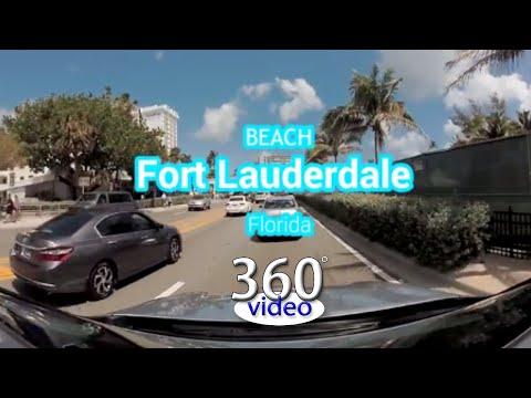 Fort Lauderdale Beach, Florida in 360 Video 2018
