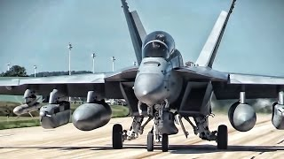 F-35A Joint Strike Fighters Fly With EA-18G Growlers