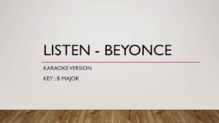 Listen - Beyonce (Karaoke Version / Minus One)