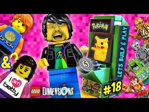 PIKACHU LEGO DIMENSIONS POKEMON Midway Arcade Fun! (Lets Build & Play LEGO Dimensions #18)