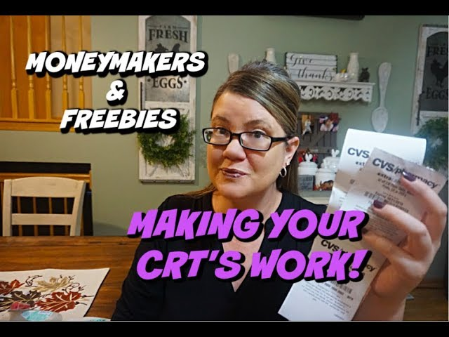 CVS COUPONERS | MAKING YOUR CRTS WORK | MONEYMAKERS & FREEBIES| VIDEO #4